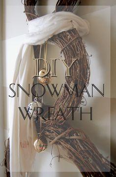 Simple easy tutorial to make a snowman wreath! http://made2style.com/2012/12/12/diy-snowman-wreath/