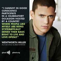 Wentworth Miller rejects Russian film festival invitation; 'As a gay man, I must decline' | GLAAD
