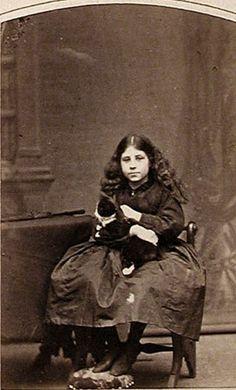 """June 1867, Mary Philippa Shirley, 9 1/2 years old"" written on verso - Ph. by J. H. Guggenheim, Oxford"