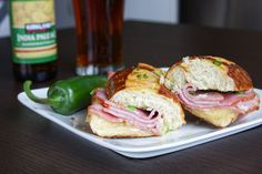 ham and havarti panini with jalapeno butter