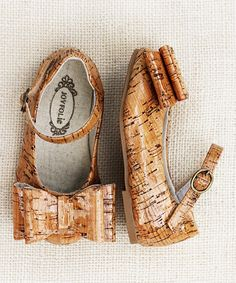 Take a look at this Brown Loralie Glazed Cork Mary Jane - Girls on zulily today!