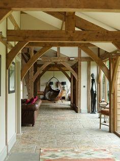 Border Oak Barn Interior.