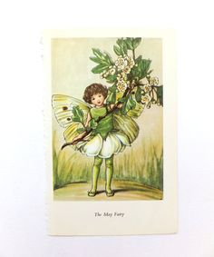 May Flower Fairy, Flower Fairies Picture, Cicely Mary Barker Print, Fairy picture on Etsy, £4.50