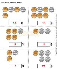 Counting Coins Worksheet 14 - math Worksheets - grade-1 Worksheets