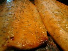 Maple Glazed Trout Recipe  Dijon mustard, maple syrup, dill