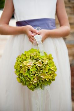 Really young flower girls may not understand tossing rose petals in which case a pomander is a great way to go!