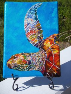 Ocean art and mini canvases by Kim Rody.