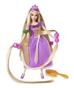 rapunzel hair play doll set