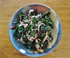A quick and easy meal of chicken and chard with lots of green goodness.
