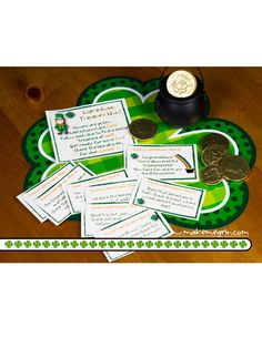Awesome treasure hunt for St. Patrick's Day! My kids will love these rhyming clues.