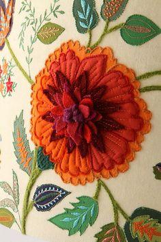 . anthropology, color combos, anthropologie, home lighting, lampshad, garden shade, felt embroidery, needlework garden, felt flowers