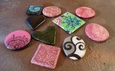 Handmade resin pendants made with Envirotex Lite