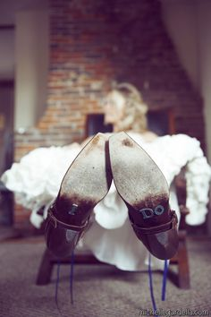 so cute for the bottom of the brides shoes!