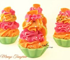 Mango Tangerine Soap Cupcake