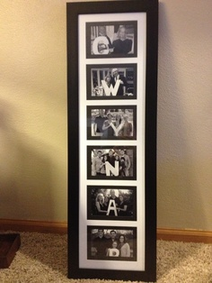 Last name family photo ... Gift for grandma! (Did her children in age order)