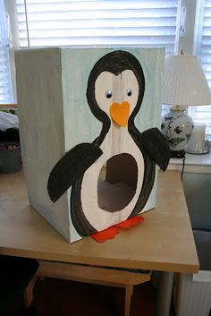 penguin toss game with easy beanbag fish