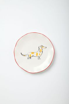 I love wiener dogs on pinterest dachshund vintage for Calligrapher canape plate anthropologie