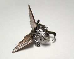 Steampunk Dragon Ring dragon body wrap around by chinookhugs, $79.99