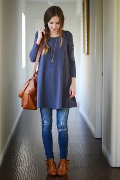jean, tunic outfit, blue, merricks art, dress, comfy casual, camera bags, spring outfits, comfy causal