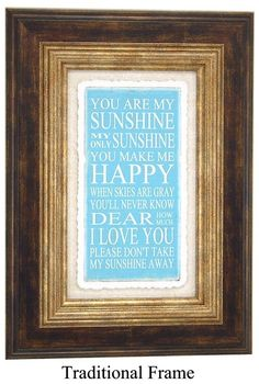 ~You are my Sunshine