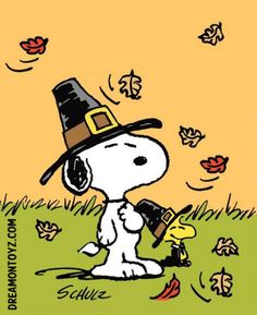 Peanuts Snoopy and Woodstock Pilgrims for Thanksgiving
