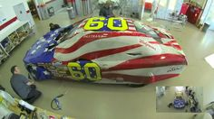 Time-Lapse of Travis Pastranas Ford Mustang Being Wrapped, via YouTube.
