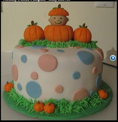 fall baby shower cakes on pinterest fall baby showers pumpkin cakes