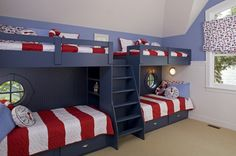 lake houses, bunk beds, beach houses, bed designs, loft