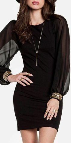 Bejeweled Cuffs Bodycon Dress