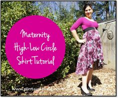 Maternity High-Low Circle Skirt Tutorial
