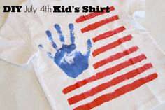 Love it! // DIY July 4th Kid's Shirt