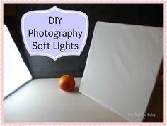 DIY Soft Lights (saving me $100) - Photography for Blogging - The TipToe Fairy #photography #diy #diyphotography