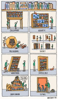 Better Bookshelves by Grant Snider