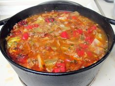 Stuffed Cabbage Roll Soup