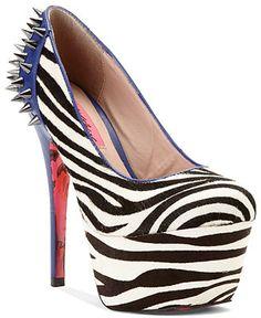 Betsey Johnson #shoes #pumps #heels #zebra #macys BUY NOW!