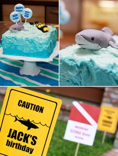 Great ideas for our 'SHARK' party!