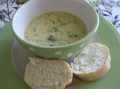 Panera Bread Broccoli Cheese Soup.