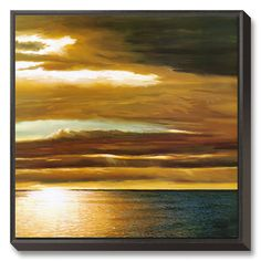 """Sunset. 29""""W x 29""""H Landscapes Canvas Wall Art"""