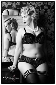 Beautifully Thick ❤️ elli mayday, polka dot, sexi, plus size, beauti, pinup, lingeri, curvi, curves