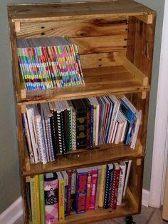 pallet bookshelf | Pallet Bookshelf