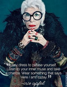 Happy 92nd Birthday to #IrisApfel