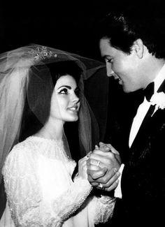THE LOOK OF LOVE...Priscilla & Elvis Presley wedding - 1967