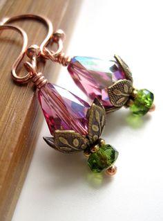 petit water, tini sleep, koi ponds, crystal earrings, flower earring, earring petit, water lilies, lotus flower, sleep lotus