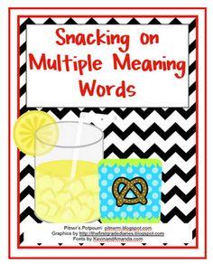 Multiple Meaning Snacks - Freebie