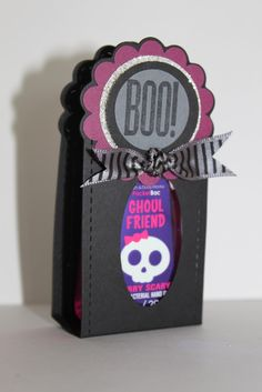 """Stampin' Up! Two Tags Halloween  by Just Julie B's Stampin' Space: """"Ghoul Friend"""" Hand Sanitizer Tutorial"""