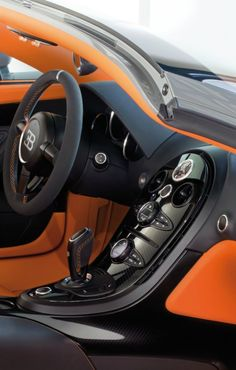 Bugatti Veyron Grand Sport Vitesse ; Car interior design doesn't come any better than this.