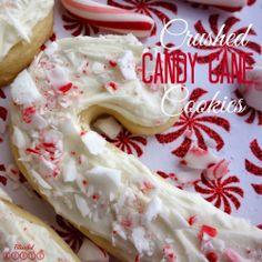 Crushed Candy Cane Sugar Cookies from Blissful Roots
