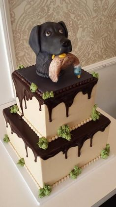 Hunting Dog Groom Cake