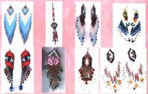 Extreme Earrings Pattern, E-Book (PDF Download) by Charlotte Holley - Beaded Legends by Chalaedra at Bead-Patterns.com