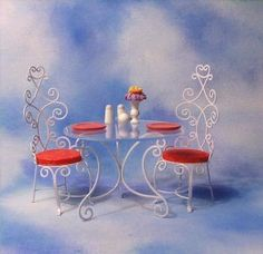Mary Poppins - Table & Chairs Accessory  Retired Edition 8/02 $85